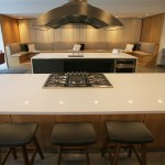 The club room has a full kitchen that can be used for cooking classes.
