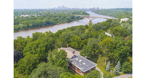 The monastery at 104 Mississippi River Blvd. in St. Paul is on a 2-acre site with sweeping views of the Mississippi River. Homebuilder Streeter Homes and its Elevations Division have purchased the property. (Submitted photo: Colin Michael Simmons-Lakestreet Photography)