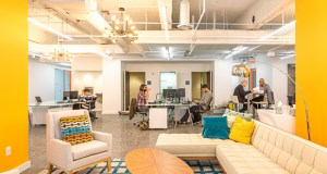 Chicago-based Novel Coworking recently completed a renovation of 15 Ninth St. S. in downtown Minneapolis. The company has a number of clients in the building, including Becoming Financial and Syvantis Technologies. (Submitted photo: Novel Coworking)