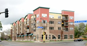 The Crescent Trace building at 1101 Main St. NE in Minneapolis has 56 units, 55 of which are rented as apartments. (Submitted photo: CoStar)