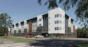 Richfield-based MWF Properties wants to build 50 workforce apartments at 2935, 2977, 2981 and 2985 Lexington Ave. in Eagan. (Submitted illustration: MWF Properties)
