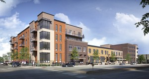 The Main Square Community development started excavation in September in downtown Winona. The project will have two four-story buildings, one with 29 luxury apartments and the other with 31 market-rate units, connected by 19,000 square feet of retail space and 105 stalls of below-grade parking. (Submitted image: Main Square Development LLC)