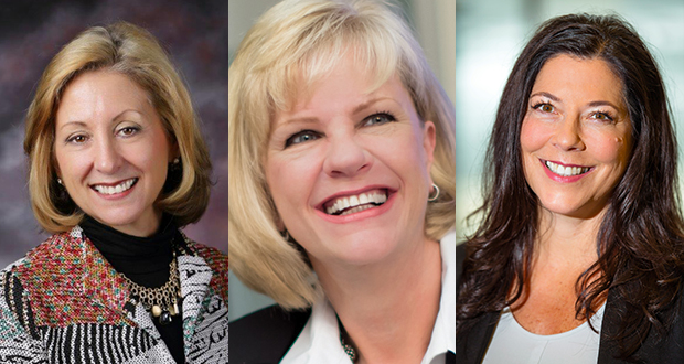 Jo Reinhardt (left) is NAWBO-MN's 2018 recipient of the Lifetime Achievement Award. Mary Quist-Newins (center) is the past president of the NAWBO-MN chapter. Mary Nutting (right) is president of NAWBO-MN. (Submitted images)