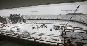 Masonry worker Joanne Hager said she got a foothold in the construction industry by working on the TCF Bank Stadium project in Minneapolis for the University of Minnesota. (File photo: Bill Klotz)