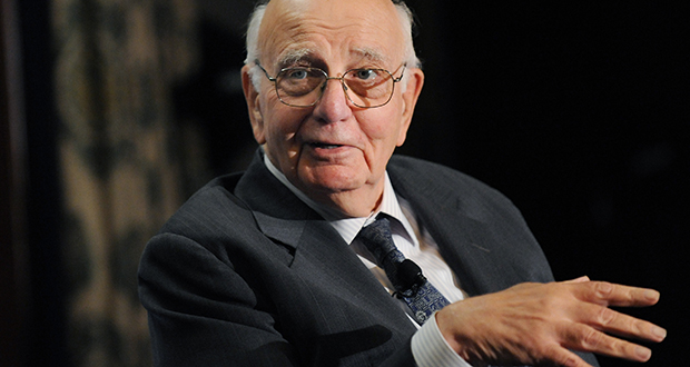 Former Federal Reserve Chairman Paul Volcker argues that a fear of deflation is driving current arguments in favor of inflation. (Bloomberg file photo)