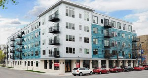 Chroma, a 70-unit mixed-use apartment building at 113 E. 26th St. in Minneapolis, opened in December 2016. (Submitted image)