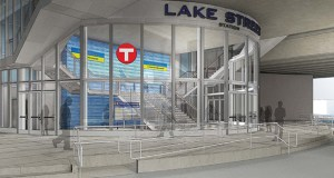 A bus rapid transit station on Interstate 35W at Lake Street is part of the $150 million Orange Line project, which received final funding approval Wednesday from the Federal Transit Administration. (Submitted image: Metro Transit)