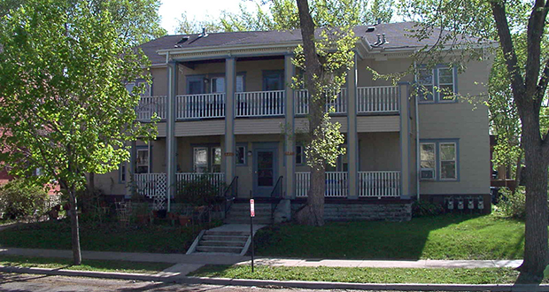 This is just one of the houses set for major improvements as part of a refinancing and renovation effort involving Riverside Homes, a portfolio of 191 units of affordable housing in the Cedar Riverside and West Bank neighborhoods of Minneapolis. (Submitted image)
