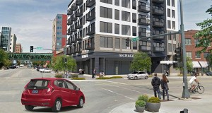 North Rock Real Estate wants to build The 324 Apartments with 50 units on a 0.2-acre parking lot in downtown Rochester, Minnesota. (Submitted image: Momentum Design Group)