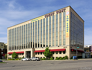 Energy-efficiency improvements at the Court West Building, 2610 University Ave. in St. Paul, have recently reduced electricity costs from $2.29 per square foot to $1.65 per square foot, according to Wellington Management. (Submitted photo: CoStar)