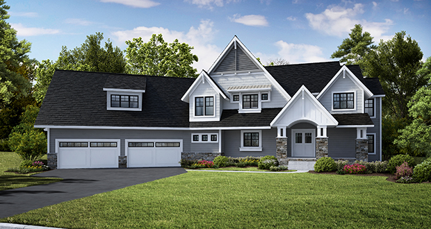 This rendering shows the home under construction on Settlers Court. It is the third and last home being built in Settlers Prairie, a boutique development along the east side of County Road 19 in Independence. (Submitted rendering: NIH Homes Inc.)