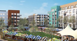 L&H Housing Partners is planning three new apartment buildings totaling 432 units in the second phase of the L&H Station project at the corner of Lake Street and Hiawatha Avenue. The first building is scheduled to start construction next summer. (Submitted image: BKV Group)