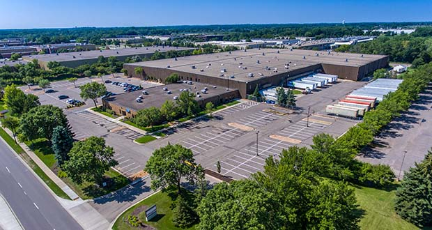 The 322,752-square-foot Boone Avenue Distribution Center at 7401 Boone Ave. in Brooklyn Park is the largest of four buildings DRA Advisors recently purchased in the Twin Cities. (Submitted photo: CBRE)