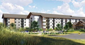 The Shoreview office of Duluth-based Benedictine Health System has paid $3.5 million to acquire a 9.18-acre site on the southeast corner of 17th Avenue West and Windermere Way in Shakopee. It plans to start work this month on the $58 million first phase of a senior housing complex with assisted living, memory care, independent living and townhome components. (Submitted image: Cuningham Group)