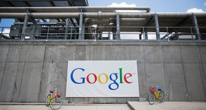 A Google data center in Lithia Springs, Georgia, shown during an expansion announcement in 2015. The California internet company plans to build a new $600 million data center in Becker, Minnesota. (AP file photo)