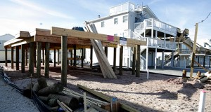 The foundation of a home is seen Jan. 11 during construction of a residence, Friday in Surf City, New Jersey. Builder sentiment in the Northeast jumped the most in four months in January, according to the National Association of Home Builders/Wells Fargo Housing Market. (AP Photo: Julio Cortez)