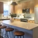 A kitchen in a model apartment at Loden SV. (Staff photo: Matt M. Johnson)