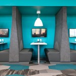 Flexible workspaces at Prime Therapeutics' new headquarters can accommodate workers from other facilities or people inside the building who are not tied to a desk. (Submitted photo: Prime Therapeutics)