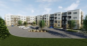 The Simmons Group is developing a 103-unit senior housing project at 2600 Dale St. N. in Roseville, with completion expected in February 2020. (Submitted image: Kaas Wilson Architects)