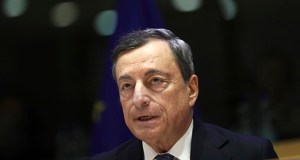 European Central Bank President Mario Draghi speaks Nov. 26, 2018, during an Economic and Monetary Affairs meeting at the European Parliament in Brussels. (AP file photo)