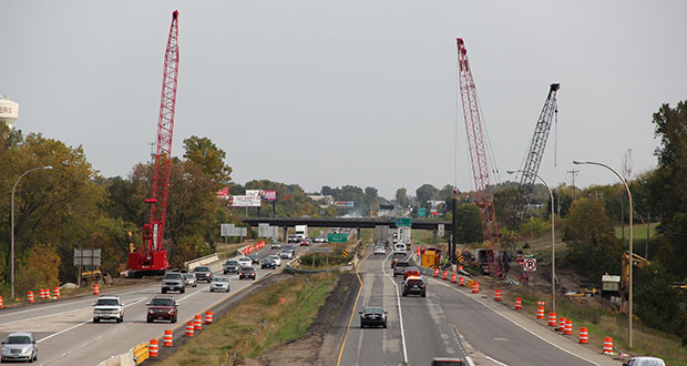 More scenes like this will be coming to Interstate 94 northwest of the Twin Cities as the Minnesota Department of Transportation prepares for three major projects. In this submitted photo, crews work on a stretch of I-94 between St. Michael and Rogers. (Submitted photo: MnDOT)