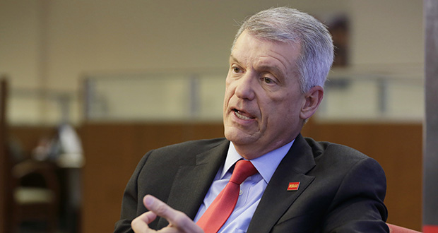 Wells Fargo President and CEO Tim Sloan stepped down Thursday, effective immediately, after less than four years on the job during which the deeply troubled bank dealt with a seemingly unending wave of scandals. (AP file photo)