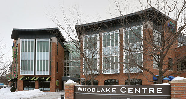 The four-building Woodlake Centre at 6601-6625 Lyndale Ave. S. and 407 W. 66th St. in Richfield now has a local owner after being purchased by an entity related to Minneapolis-based Ryan Cos. US Inc. (File photo: Bill Klotz)