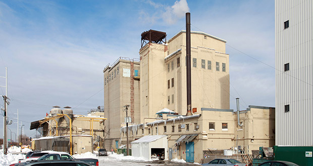 Chicago-based Archer Daniels Midland will close its Nokomis flour mill at 3501 Hiawatha Ave. S. in the coming months. The property, one of two ADM currently operates in Minneapolis, will be put up for sale. (Submitted photo: CoStar Group)