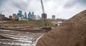 Construction continues this season on the $239 million I-35W Downtown to Crosstown project in Minneapolis. The project is part of a busy 2019 construction program for the Minnesota Department of Transportation. (File photo: Bill Klotz)