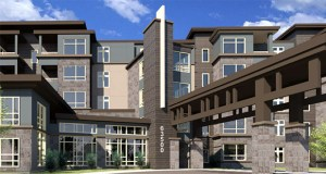 The 274-unit senior housing building Presbyterian Homes plans to build at 625-635 Prairie Center Drive in Eden Prairie will provide more than triple the housing that the Castle Ridge Care Center currently on the site does. (Submitted illustration: InSite Architects)