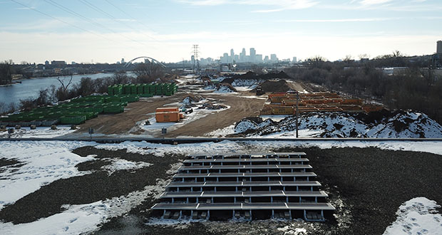 The Minneapolis Green Zones program has helped Ian Silver-Ramp install a solar array and buy a much more efficient heating and cooling equipment at his Mississippi Mushrooms warehouse at 3750 Washington Ave N. (Submitted photo)