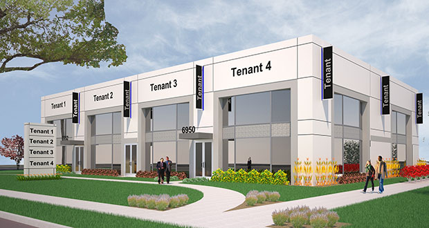 A 9,600-square-foot retail building Luigi Bernardi wants to build at 6950 France Ave. in Edina is the developer's latest plan for a 1-acre site once designated for two soaring condominium towers. (Submitted illustration: Edward Farr Architects)
