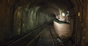 In this August 2015 photo, a set of stairs sits next to the entrance of the north tube of the North River Tunnel under the Hudson River in New York. The Trump administration says Gateway sought an unprecedented $6.77 billion in transit grants for the tunnel, more than twice the total appropriated to the program by Congress last year. (Bloomberg file photo)