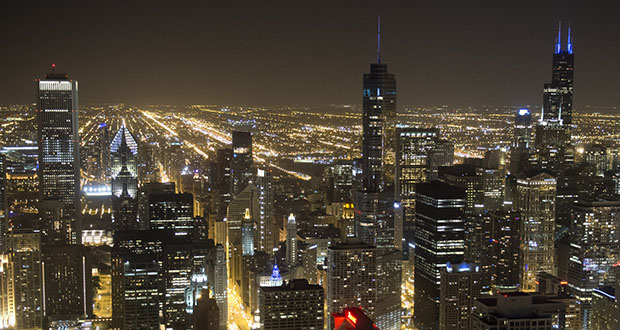 The Federal Reserve's Chicago conference is billed as the main event in a yearlong review of how the Fed tackles the goals it's been given by Congress: maximum employment and price stability. This 2012 photo shows Chicago's downtown. (Bloomberg file photo)