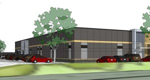 The IBEW would have about 10,000 square feet of event space along with offices at a new building it is planning for 6700 Broadway Ave. W. in Brooklyn Park. (Submitted illustration: Pope Architects)