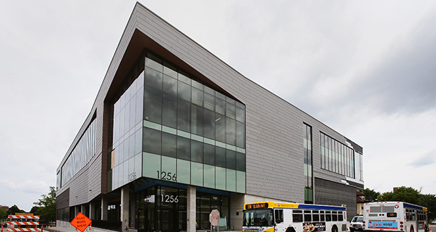 The Regional Acceleration Center in north Minneapolis was completed last fall after 17 months of construction. Thor established its corporate headquarters there. Hennepin County owns and occupies office space in the building. Thor announced in April that it was closing after nearly four decades in business. (File photo: Bill Klotz)