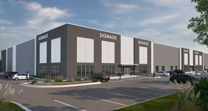 Opus Development Co. plans to start construction this summer on this 152,000-square-foot spec industrial building at the southeast quadrant of Dodd Road and Opperman Drive in Eagan. (Submitted rendering: Opus)