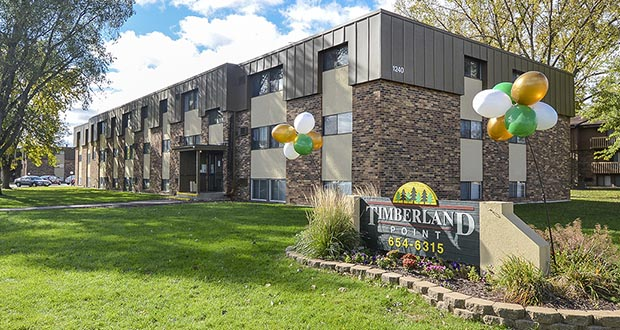 Denver-based Monarch Investment and Management Group has rebranded the Timberland Crossing and Timberland Point apartments at 1300 15th St. N. in St. Cloud as the Upper Town Apartments. It's the eighth apartment complex the Colorado company is operating in Minnesota. (Submitted photo: CoStar Group)