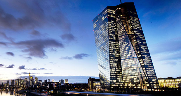 This Dec. 11, 2018, photo shows the European Central Bank in Frankfurt, Germany. (AP Photo: Michael Probst)