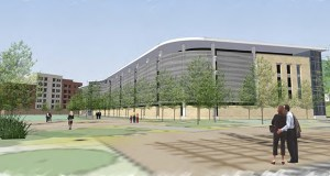 The Federal Reserve Bank of Minneapolis is withdrawing its appeal after plans to build this 790-stall parking ramp were rejected by the Minneapolis Planning Commission. (Submitted image: BWBR)
