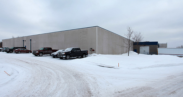 RMS Co. wants to add 60,000 square feet of space to this existing manufacturing plant at 8600 Evergreen Blvd. in Coon Rapids. (Submitted photo: CoStar)