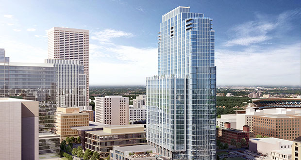 The Minneapolis office of JLL has committed to leasing about 15,000 square feet of space in the RBC Gateway Tower at 30 Third St. S. in downtown Minneapolis. (Submitted illustration: Smallwood, Reynolds, Stewart & Stewart Inc.)