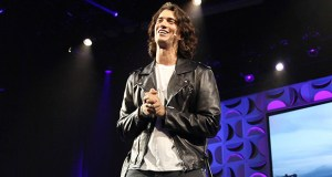 In this May 10, 2018, photo, Adam Neumann speaks at the WeWork San Francisco Creator Awards at Palace of Fine Arts in San Francisco. (Bloomberg file photo)