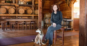 Plaintiff Nan Bailly and a companion at her winery in Hastings (Photo: Institute for Justice)