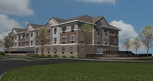 Contractors Capital Co. hopes to begin construction next spring on this 77-unit senior housing development at the corner of Jefferson Street and Huset Parkway in Columbia Heights. (Submitted rendering: Rosa Architectural Group)