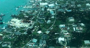 This Sept. 3 aerial photo shows the destruction brought by Hurricane Dorian on Man-o-War Cay, Bahamas. Relief officials reported scenes of utter ruin in parts of the Bahamas and rushed to deal with an unfolding humanitarian crisis in the wake of Hurricane Dorian, the most powerful storm on record ever to hit the islands. (Photo Medic Corps via AP)
