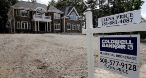 Residential construction rose 30.5% in the Northeast in August, the Commerce Department said Wednesday. This Sept. 3 photo shows a newly constructed home, in Westwood, Massachusetts. (AP Photo: Steven Senne)