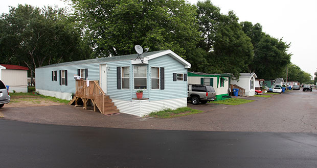 The Dayton Park manufactured home community at 19010 County Highway 81 in Osseo is part of a pool of metro-area parks containing up to 35 percent of Minnesota's manufactured home sites. (Submitted photo: CoStar)