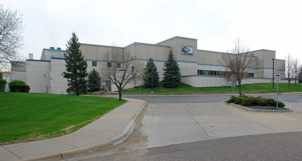 SkyWater Technology Foundry wants to expand its manufacturing plant at 2401 86th St. E. in Bloomington, seen here before its spin-off in 2017 by Cypress Semiconductor. (Submitted photo: CoStar Group)