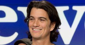 In this Jan. 16, 2018, photo, Adam Neumann, co-founder and CEO of WeWork, attends the opening bell ceremony at Nasdaq, in New York. WeWork is delaying its IPO, saying it now expects the offering to be completed by the end of the year. (AP file photo)